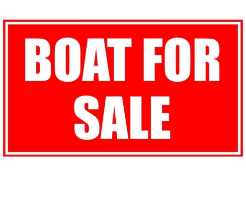 """Boat for Sale"" Sign"