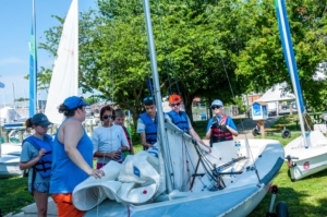 Young Boaters Ready their Boats