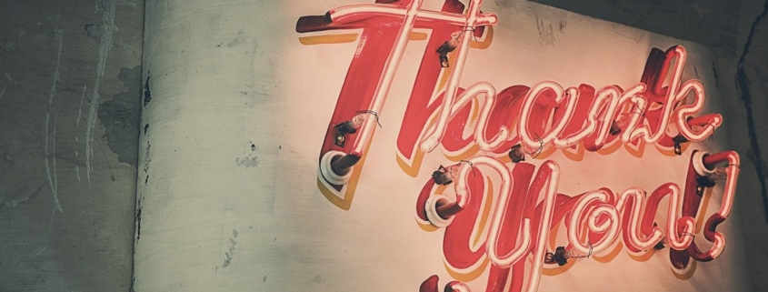 Neon Thank-You Sign